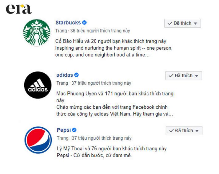 Nhiều thương hiệu lớn đã tạo dựng cộng đồng trên mạng xã hội Facebook