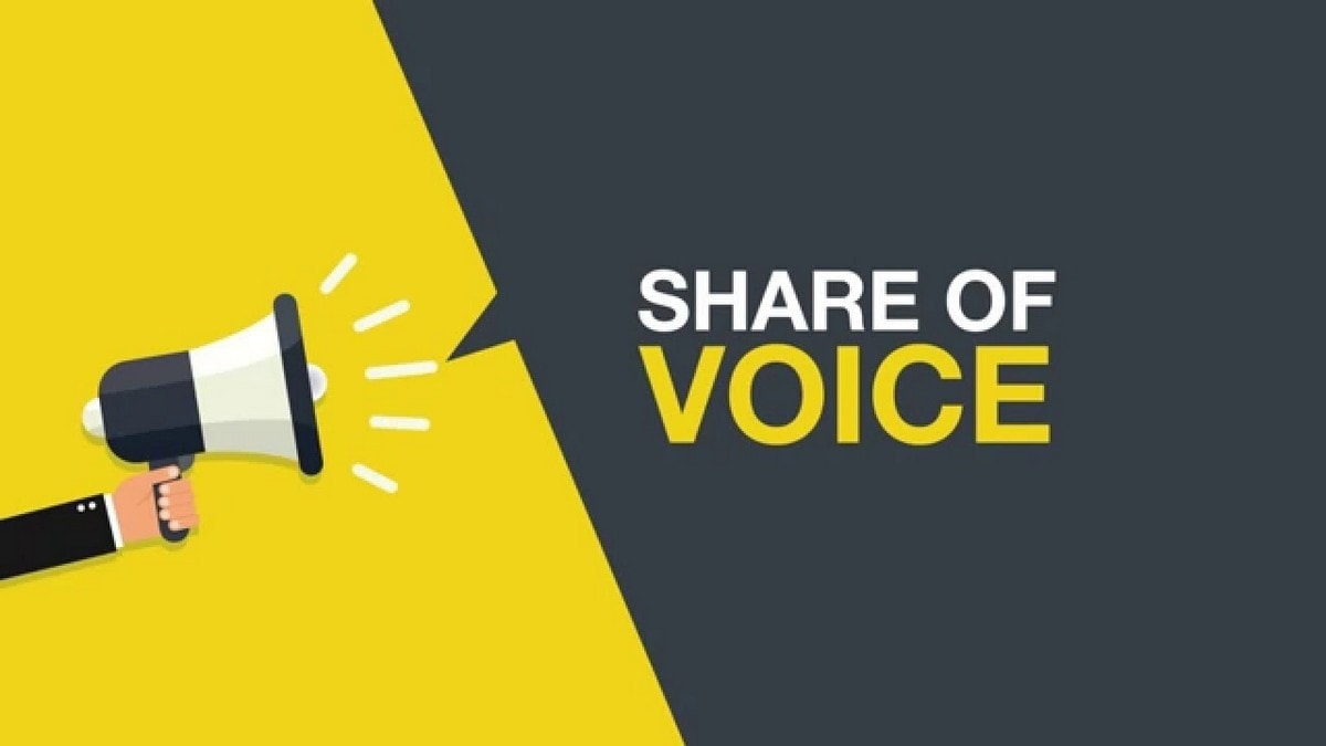 Share of Voice giúp đánh giá phần nào hiệu quả khi làm brand marketing