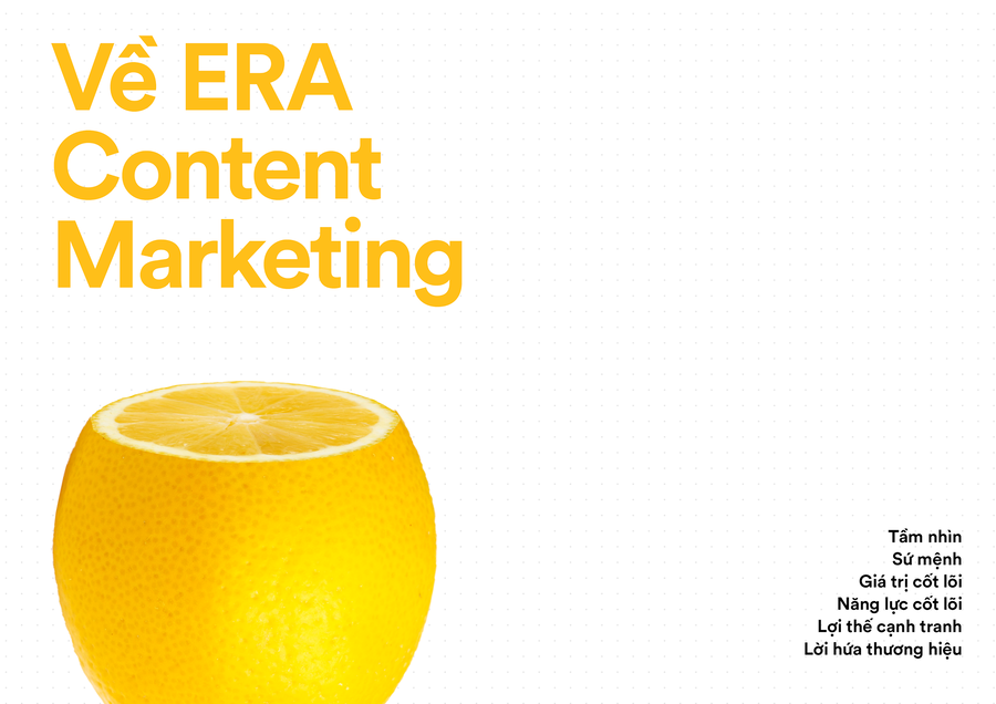 ERA Content Marketing - Brand Book 2020 ra đời