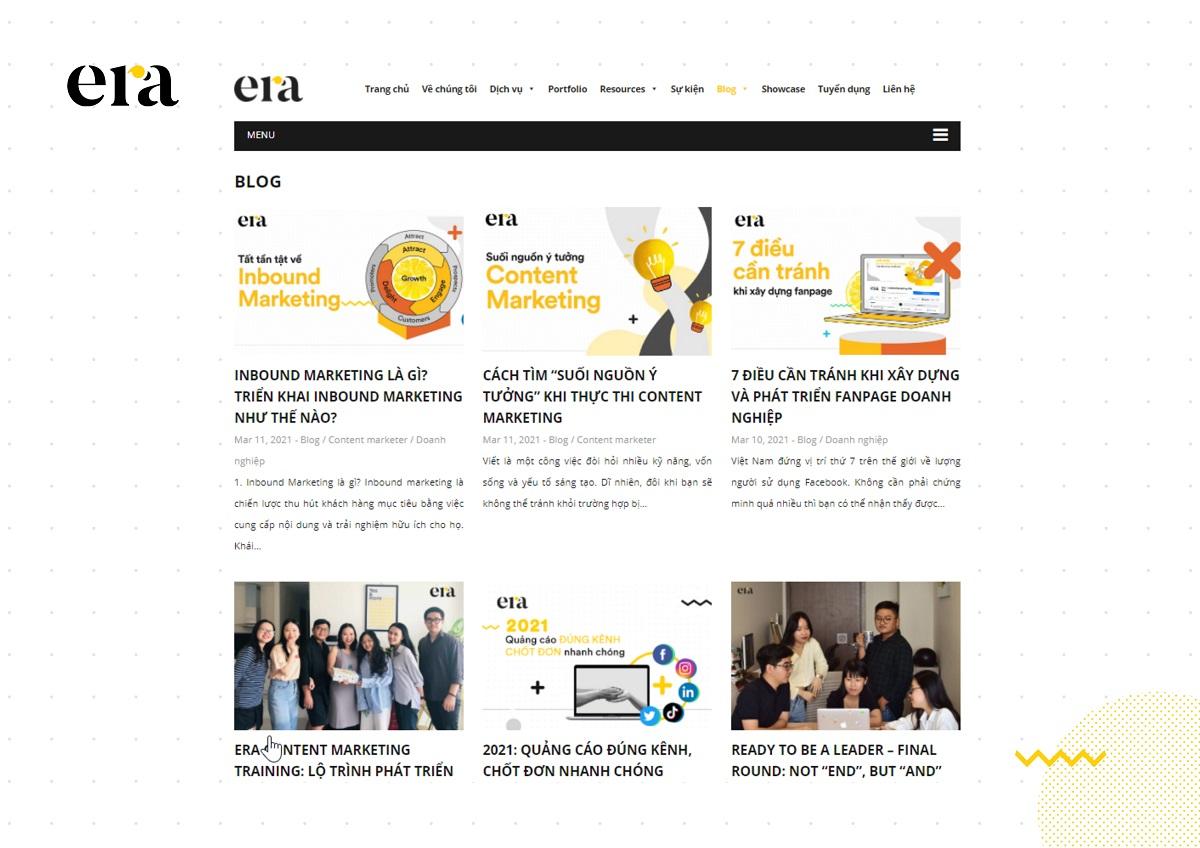Các bài blog trên website cần cung cấp nội dung có giá trị để thu hút người đọc