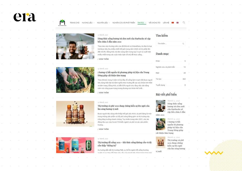 Chuyên mục blog của MQ International sở hữu đa dạng nội dung có giá trị chứ không chỉ quảng bá về sản phẩm và dịch vụ