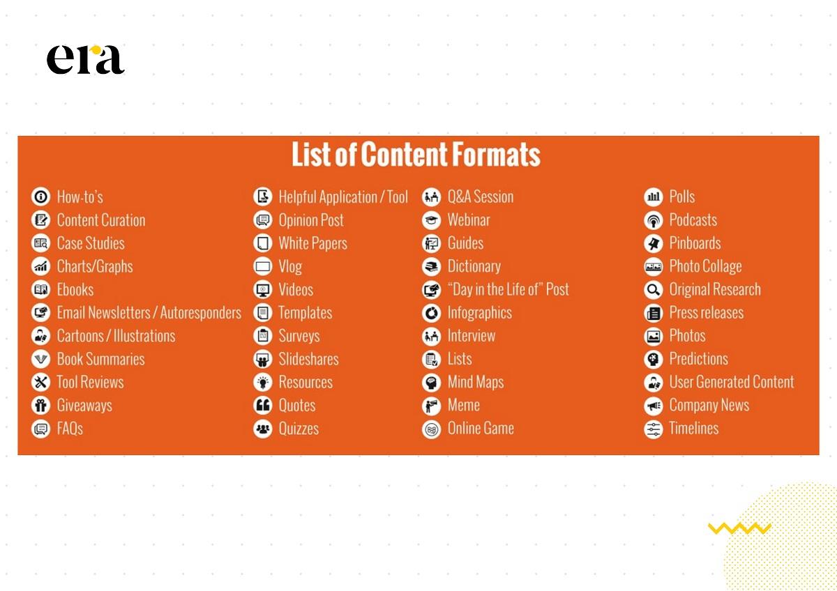 Có rất nhiều loại hình content marketing khác nhau